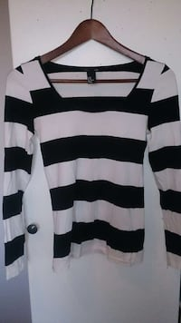 white and black striped long sleeve shirt Bergen, 5142
