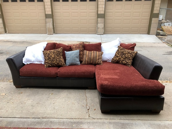 Used red and white sectional couch for sale in Denver - letgo