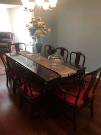 Dining Table w/ 8 chairs + cushions Burke, 22015