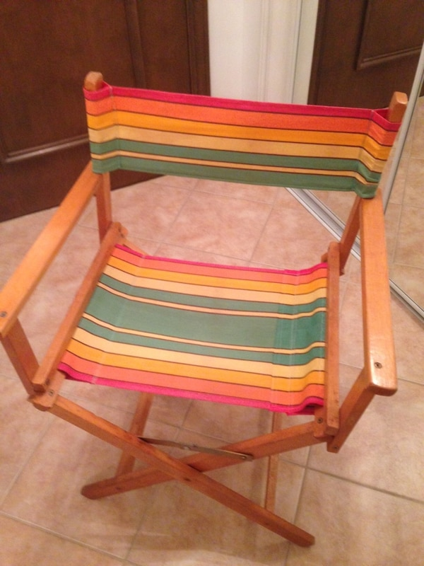 Director style wood chair (4 available)
