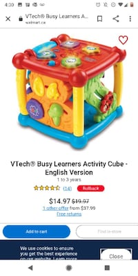 VTECH CUBE TOY Mississauga