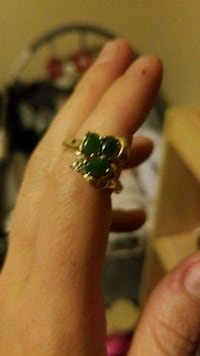 silver-colored ring with green gemstones Colorado Springs, 80910