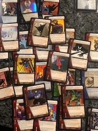 Assorted Marvel Vs. trading cards.