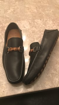 Pair of black leather loafers size 9.5 Alexandria, 22304