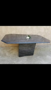 Black marble table.