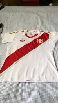 white and red Adidas jersey shirt Miami, 33186