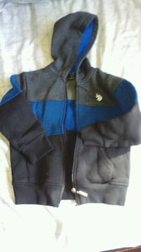 black and blue zip-up hoodie 2T South Gate, 90280