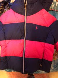 Pink polo girls jacket size 7 excellent condition pet free home New York, 11434