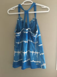 blue and white striped spaghetti strap dress Calgary, T3K 0J8