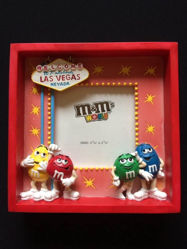 Used welcome to las vegas nevada m&m\'s world photo frame for sale in ...