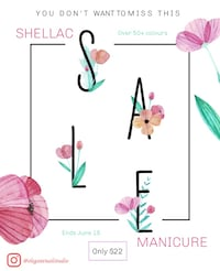 shellac manicure promotion ends June 15! Mississauga