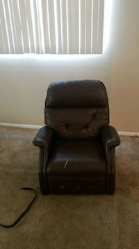 black leather padded sofa chair Tampa, 33624