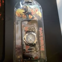 Iron maiden collectable watch with case