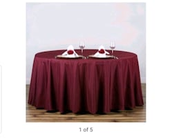 """Eleven 120"""" round polyester table cloth"""