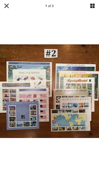 COMMEMORATIVE MINT STAMPS,11 Full-Sheet Assortment @ 5% offFace Value