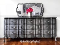 Silver/grey French Provincial Dresser/Buffet/Media Center Hagerstown, 21740
