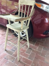 Vintage wood high chair for makeover Woodbridge, 22192