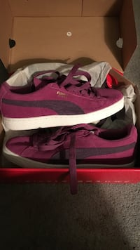 Purple puma suede lace-up sneakers Hyattsville, 20784