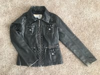 Girls faux black leather jacket Ashburn, 20148