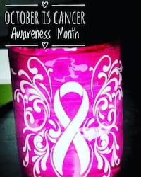 Cancer awareness Yeti Koozie 10% profit goes to the pink fund! We can make them however you like  Inverness, 34453