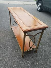 """Solid wood table 50"""" wide, 18"""" deep, 29"""" h"""