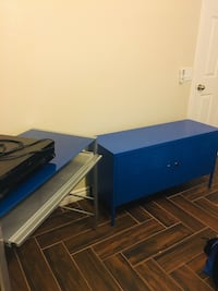 Student Desk and Locker-Style Cabinet