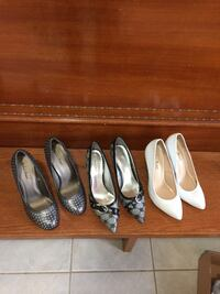 Three pairs of leather heels size 8 and 8.5 Brant, N3V
