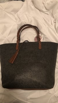 Never used large grey and brown purse Tampa, 33613