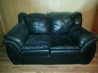 black leather 2-seat sofa Keyport, 07735