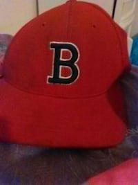 red and black B embroidered flat brim cap Randolph, 05060