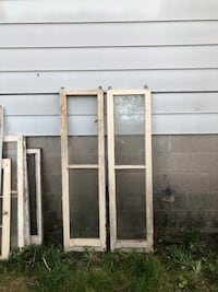white wooden framed glass window Clearview, L0M 1S0