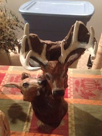 brown and white deer ceramic figurine Blair, 49685
