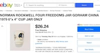 1979 Norman Rockwell Four Freedoms Jar, Collector's item, Gorham Fine China, Vintage San Diego, 92131