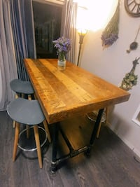 Industrial style reclaimed wood bar table Vancouver, V6P 3H7