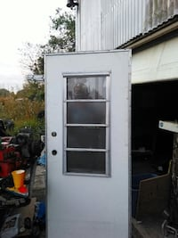 white wooden and glass panel door 32 by 76