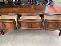 Coffee table Solid wood in very good condition 6 drawers Toronto, M3K 1H4