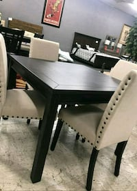 black wooden table with six chairs dining Las Vegas, 89109