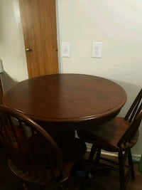 High Table with 2 high chairs.