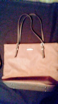 white and brown leather tote bag St. Louis, 63114