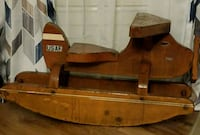 Vtg Handcrafted Child's Wooden Airplane Rocker  Oklahoma City, 73119