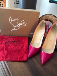 pair of red leather pointed-toe heels Huntington Beach, 92648