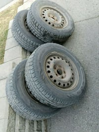 Set of 4 tires on rims Belleville, K8P 4S8