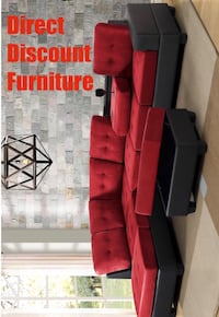 red and black fabric sofa set Houston, 77009