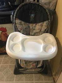 Baby's white and black high chair Walkersville, 21793
