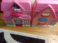 two pink and purple plastic dollhouse Olney, 20832