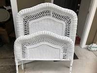 white wicker 3-tier rack Fairfax, 22033