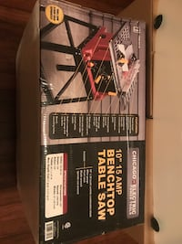 "Brand New 10"" 15 AMP Benchtop Table Saw"