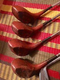 Vintage Jimmy Thomson Spalding golf clubs