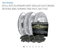 platinum hart drilled slot brake rotors and ceramic pad North Las Vegas, 89081