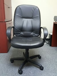 Black leather high rolling chairs adjustable  Houston, 77090